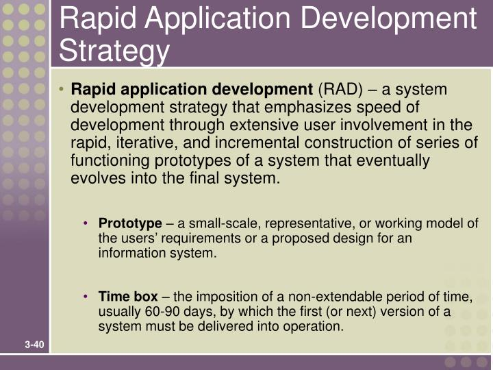 Rapid Application Development Strategy