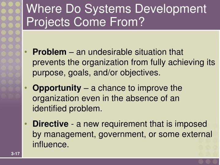 Where Do Systems Development Projects Come From?