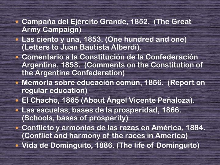 Campaña del Ejército Grande, 1852.  (