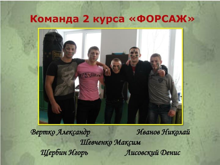 Команда 2 курса «ФОРСАЖ»