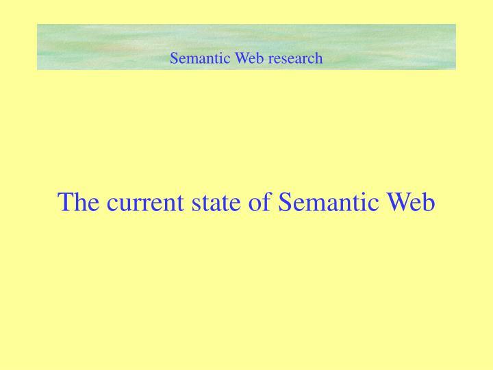 Semantic Web research