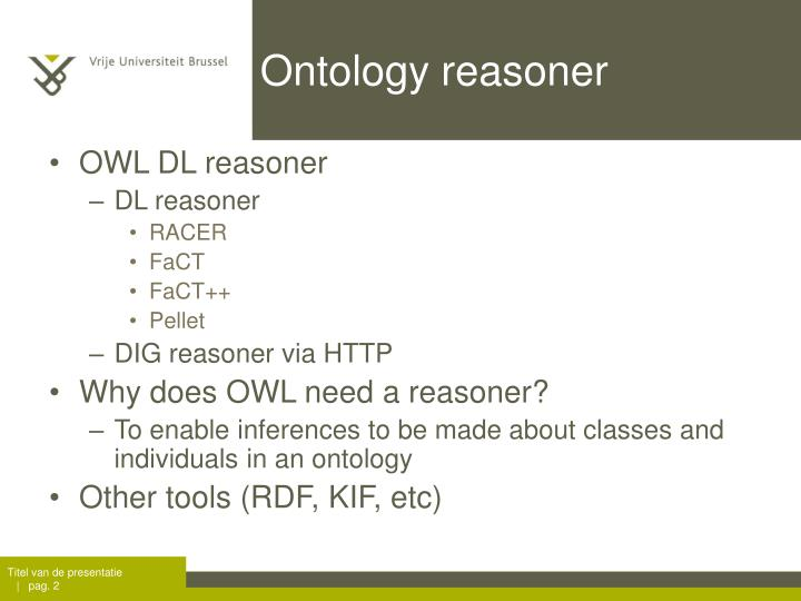 Ontology reasoner