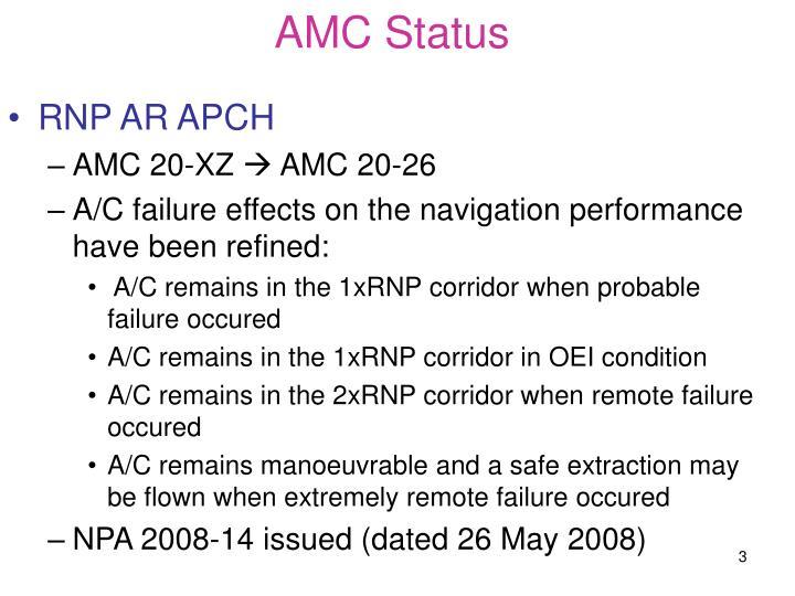 AMC Status
