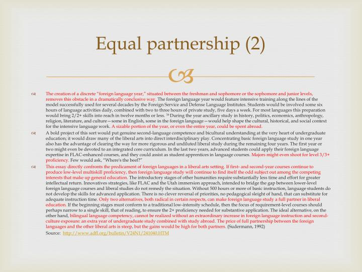 Equal partnership (2)