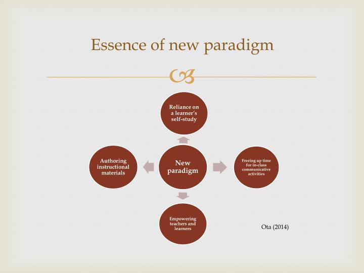 Essence of new paradigm