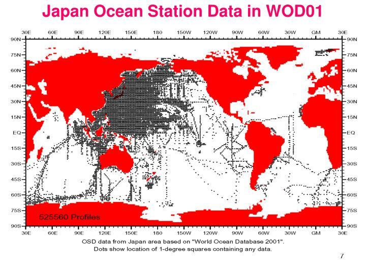 Japan Ocean Station Data in WOD01