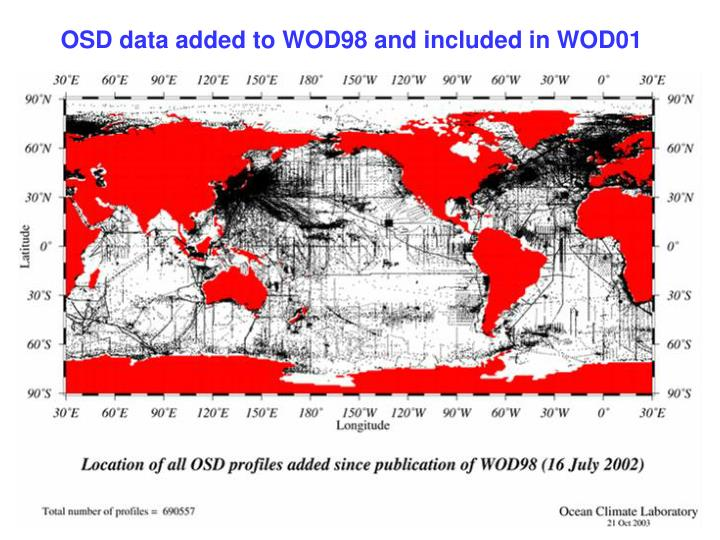 OSD data added to WOD98 and included in WOD01