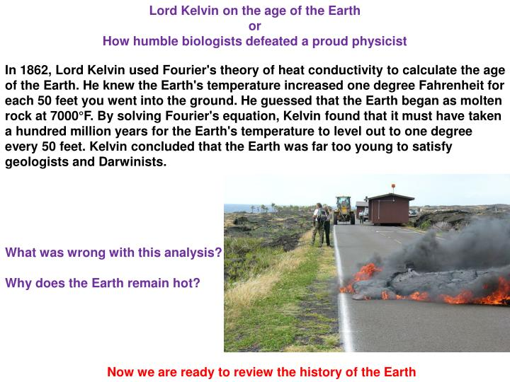 Lord Kelvin on the age of the Earth