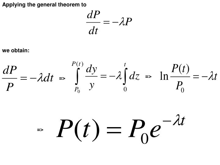 Applying the general theorem to