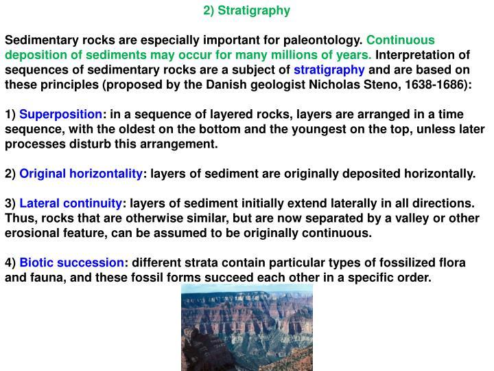 2) Stratigraphy