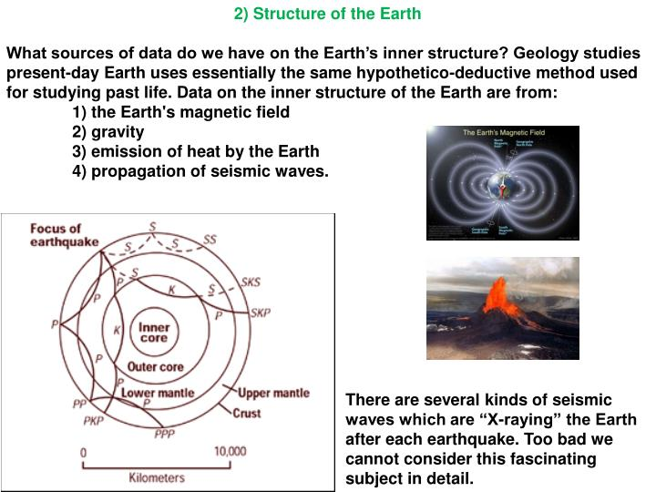2) Structure of the Earth