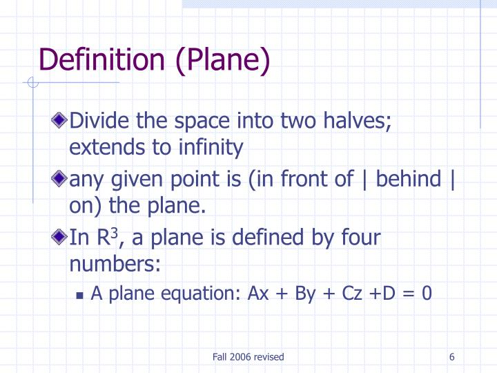 Definition (Plane)