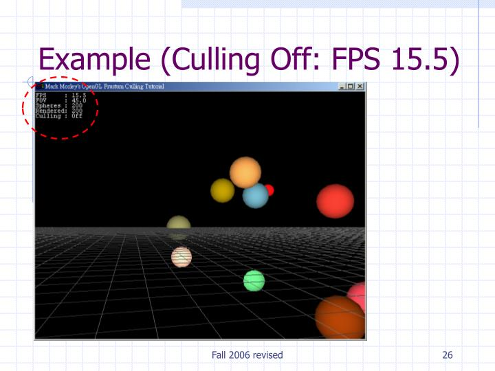 Example (Culling Off: FPS 15.5)