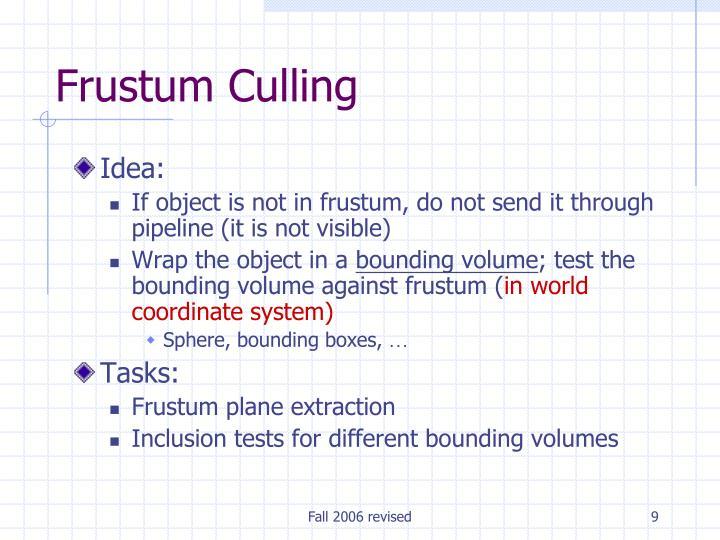 Frustum Culling