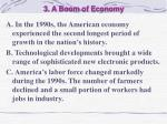 3 a boom of economy