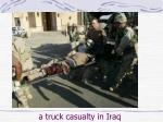 a truck casualty in iraq