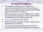 iii social problems