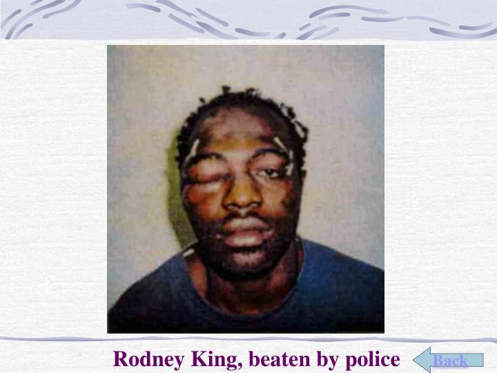 Rodney King, beaten by police