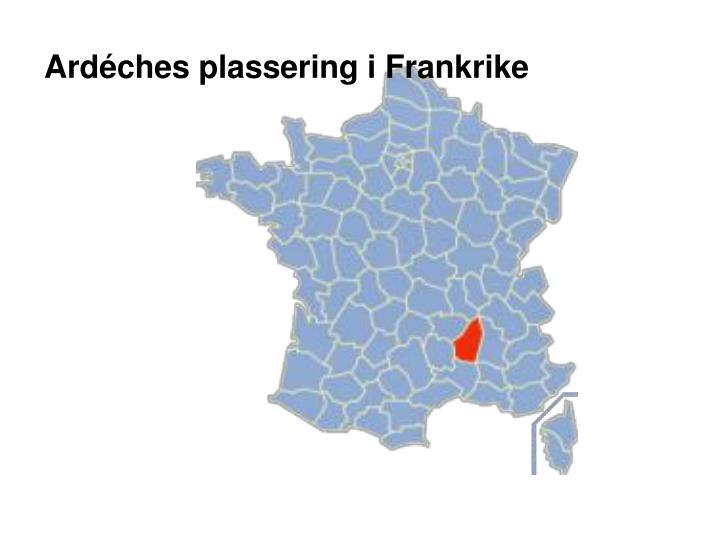Ardéches plassering i Frankrike