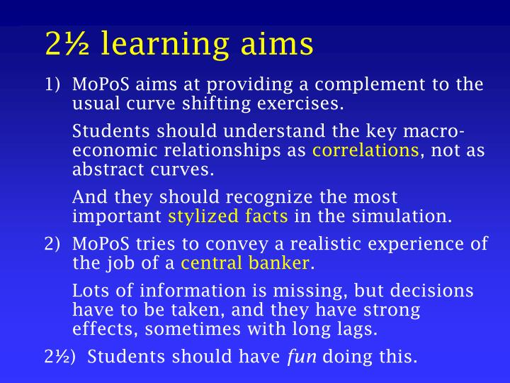 2 learning aims
