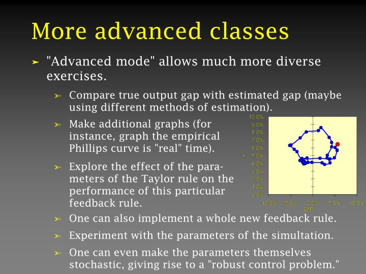 More advanced classes