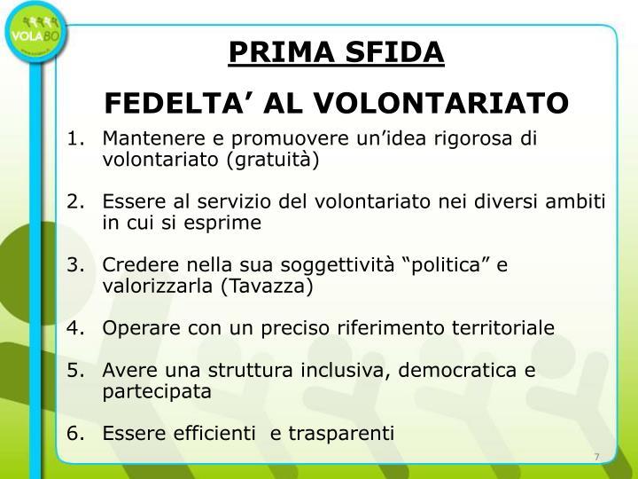 PRIMA SFIDA