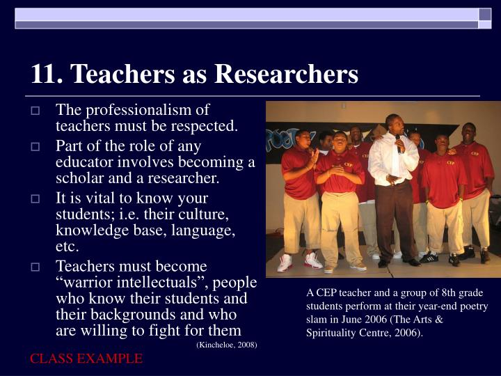 11. Teachers as Researchers