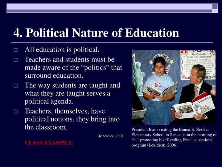 4. Political Nature of Education
