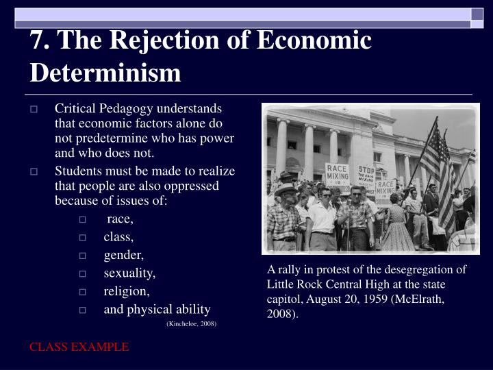7. The Rejection of Economic Determinism