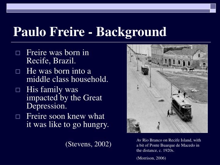 Paulo Freire - Background