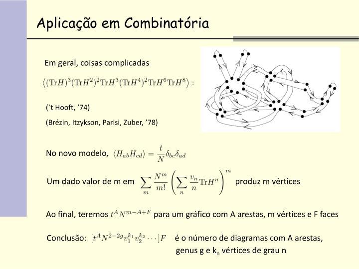 Aplicação em Combinatória