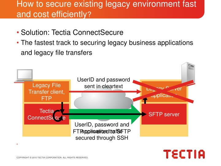 How to secure existing legacy environment fast and cost efficiently