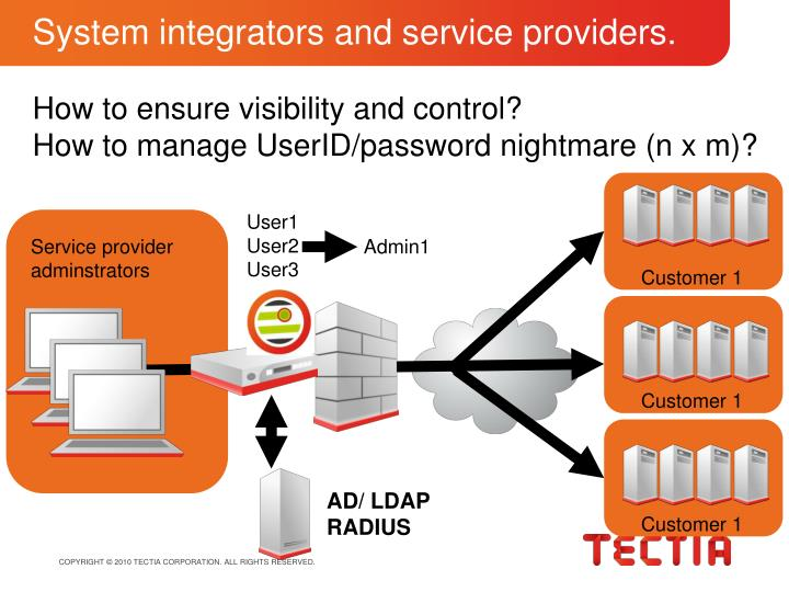 System integrators and service providers.