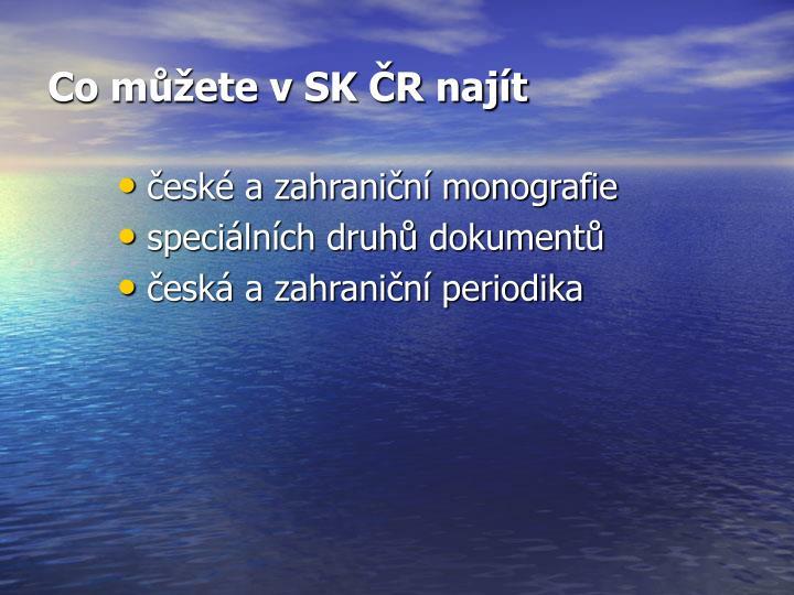 Co můžete v SK ČR najít