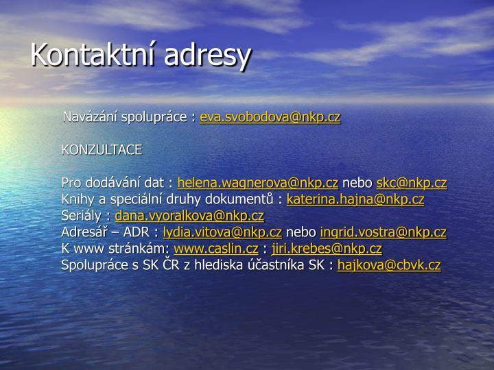 Kontaktní adresy