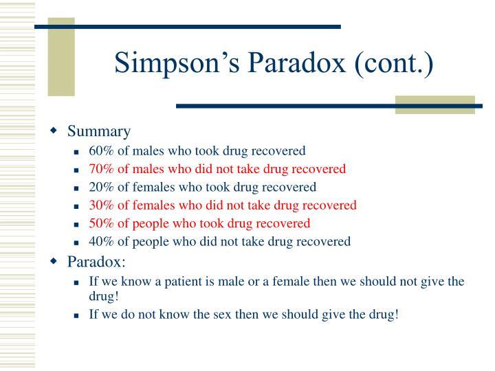Simpson's Paradox (cont.)