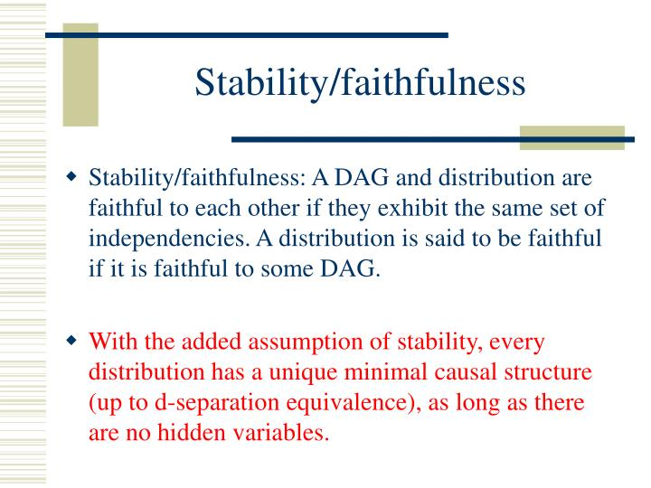 Stability/faithfulness