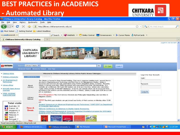 BEST PRACTICES in ACADEMICS