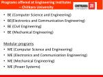programs offered at engineering institutes chitkara university