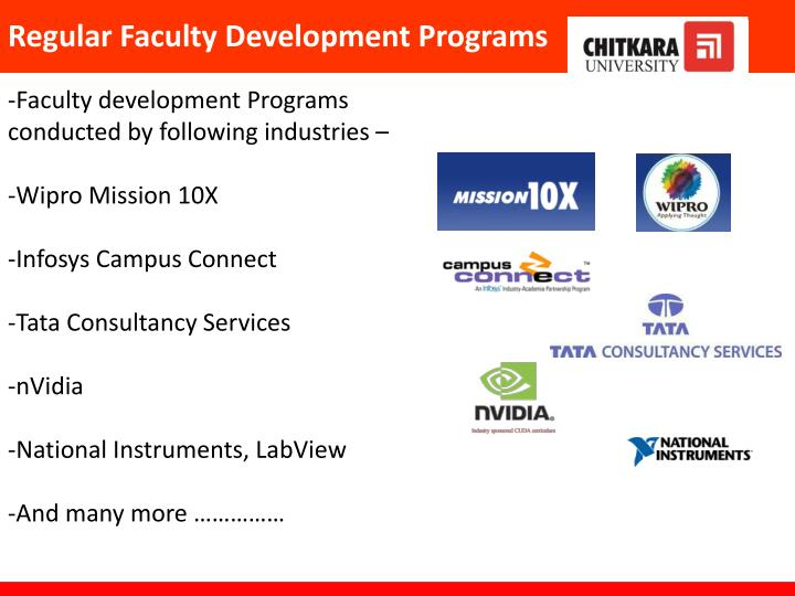 Regular Faculty Development Programs
