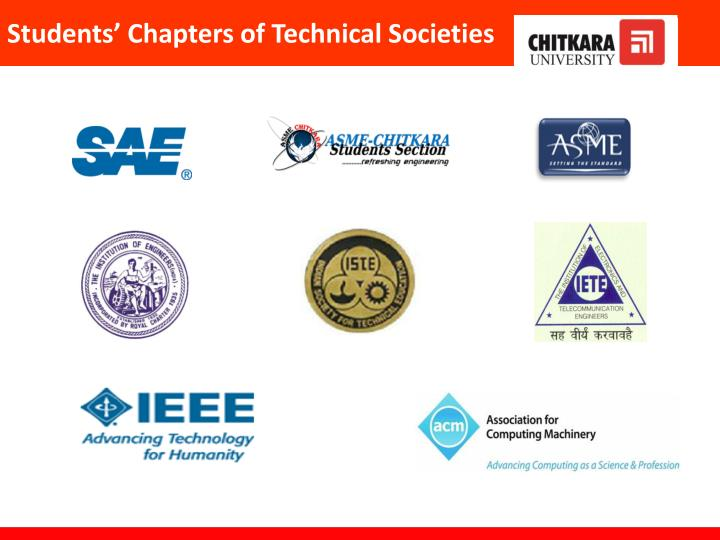 Students' Chapters of Technical Societies