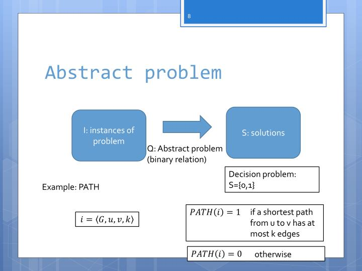 Abstract problem