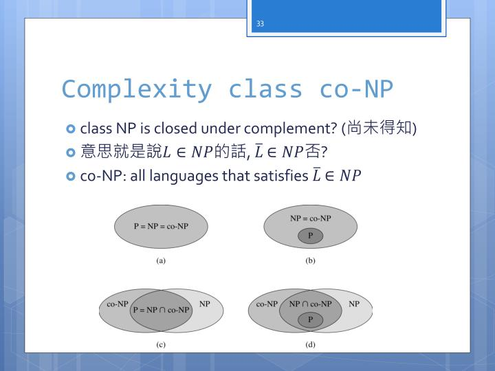 Complexity class co-NP