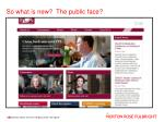 so what is new the public face