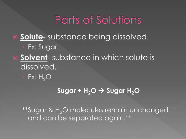 Parts of Solutions