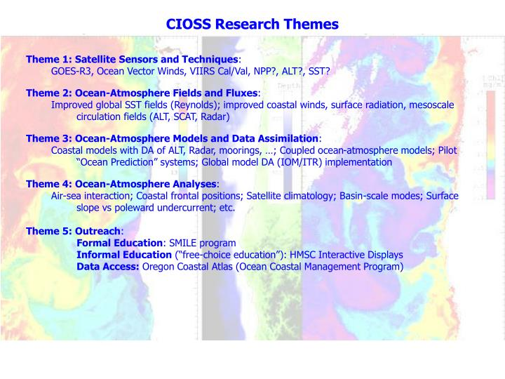 CIOSS Research Themes