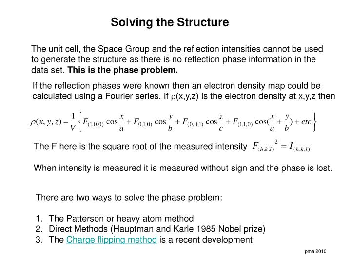 Solving the Structure