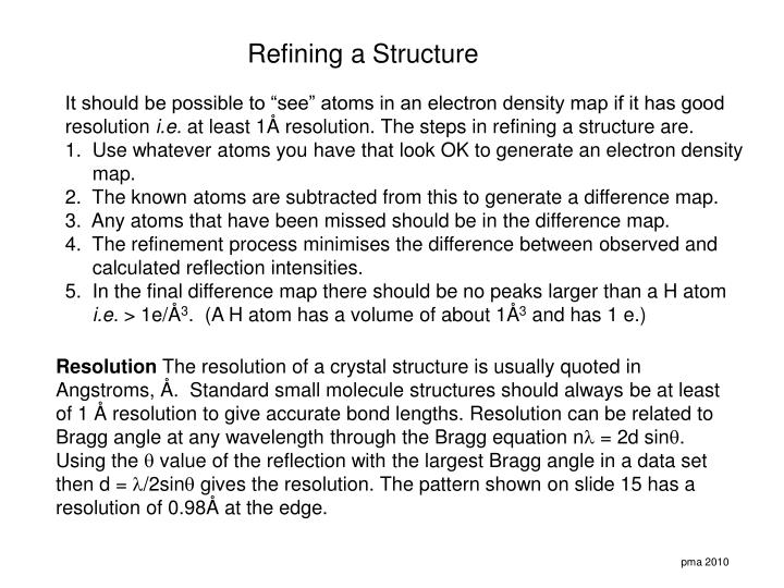 Refining a Structure