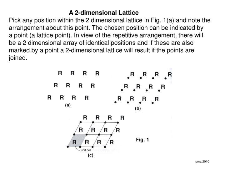 A 2-dimensional Lattice