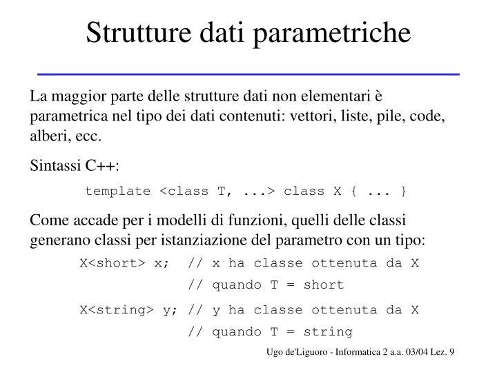 Strutture dati parametriche